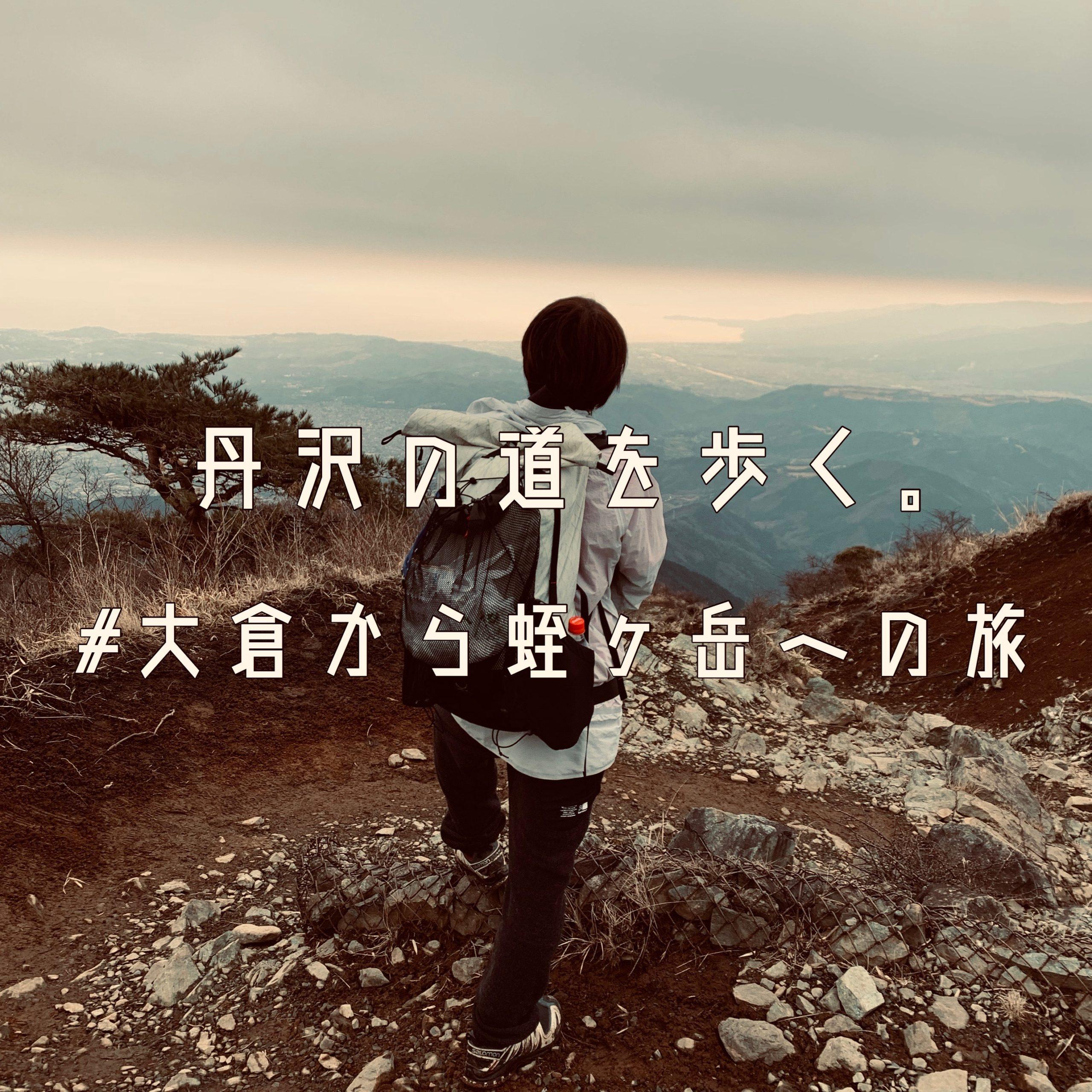 丹沢の道を歩く。#大倉から蛭ヶ岳への旅